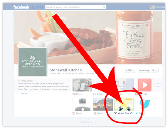 Embed Facebook Google virtual tour-Step 2