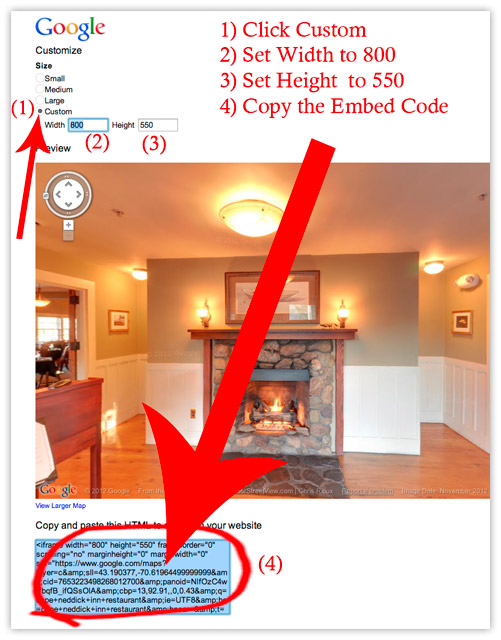 Embed Facebook Google virtual tour-Step 4